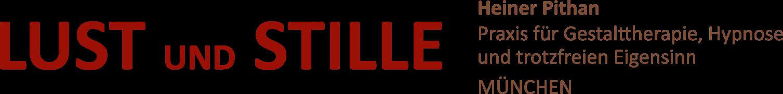 Logo Lust und Stille: Heiner Pithan, Praxis für Gestalttherapie, Hypnose und trotzfreien Eigensinn in München